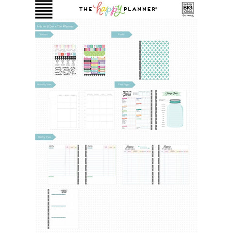 BUDGET EXTENSION PACK : SPEND WELL : BIG HAPPY PLANNER