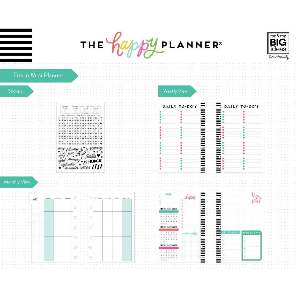 MONTHLY 6 MONTH EXTENSION PACK : MINI HAPPY PLANNER