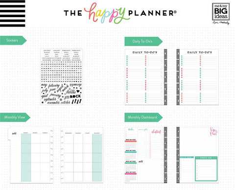 CAN DO - MONTHLY 6 MONTH EXTENSION PACK : CLASSIC HAPPY PLANNER