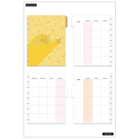 12-MONTH MONTHLY EXTENSION PACK : SUNSHINE : CLASSIC HAPPY PLANNER