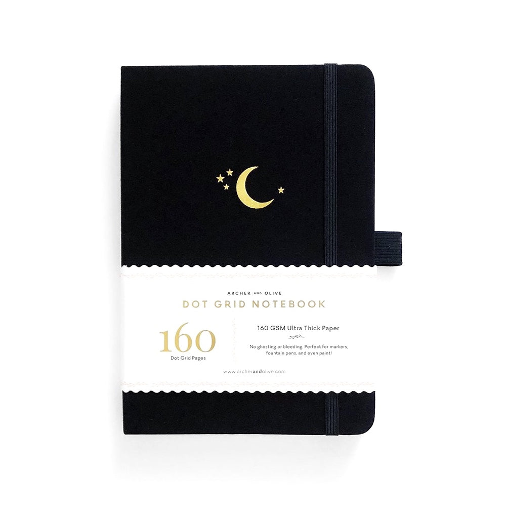 A5 DOT GRID NOTEBOOK : CRESCENT MOON