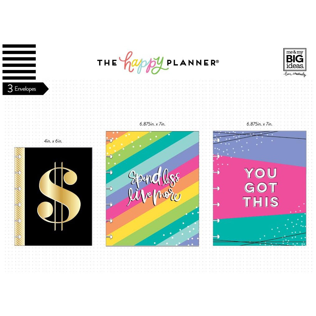 SNAP-IN ENVELOPES - BUDGET : CLASSIC HAPPY PLANNER
