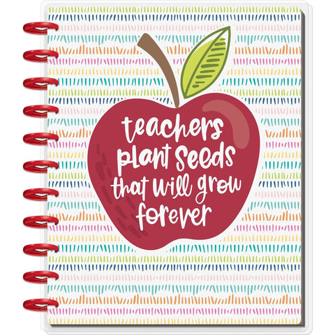 BIG 12-MONTH UNDATED HAPPY PLANNER : TEACHERS PLANT SEEDS (TEACHER PLANNER)