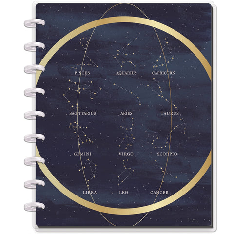 HAPPY NOTES CLASSIC NOTEBOOK : ZODIAC SIGNS (DOTTED LINE)