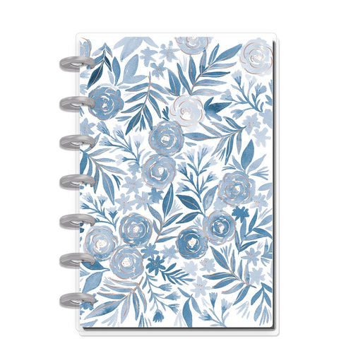 HAPPY NOTES MINI NOTEBOOK : BLUE FLORALS (DOTTED LINE)