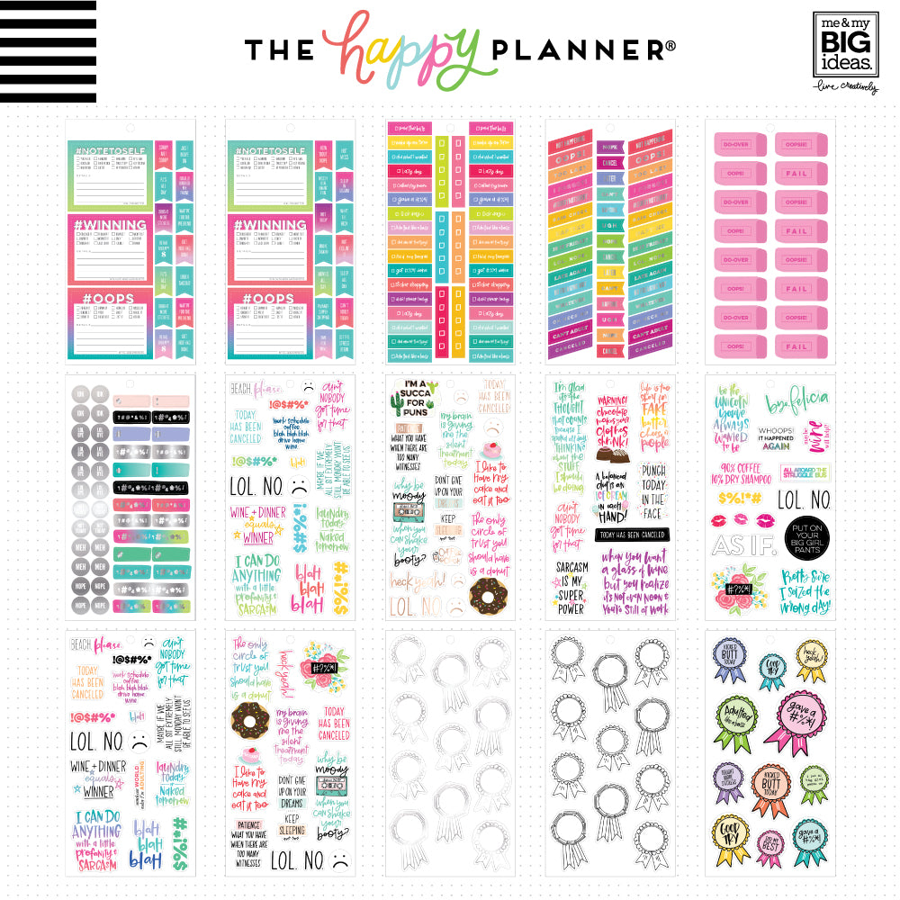 HAPPY PLANNER VALUE PACK STICKERS : CLASSIC : SASSY PLANS