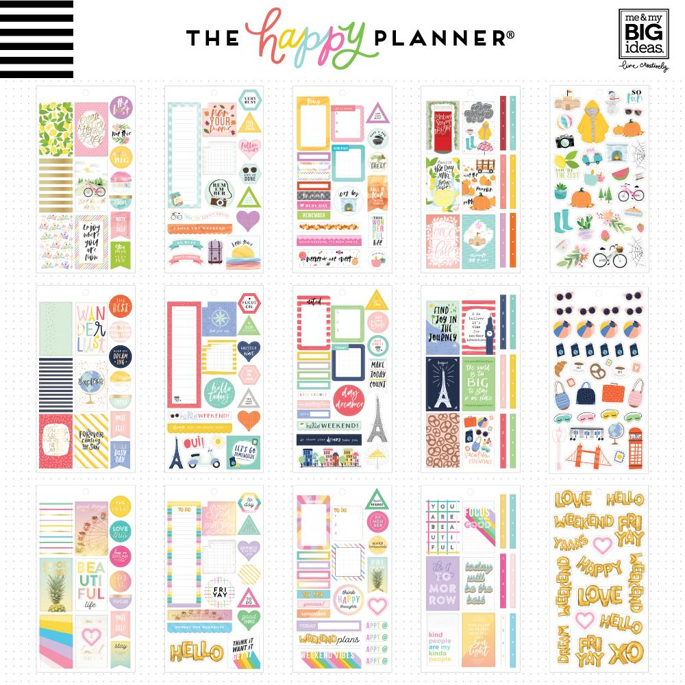 HAPPY PLANNER VALUE PACK STICKERS : CLASSIC : COLOR STORY