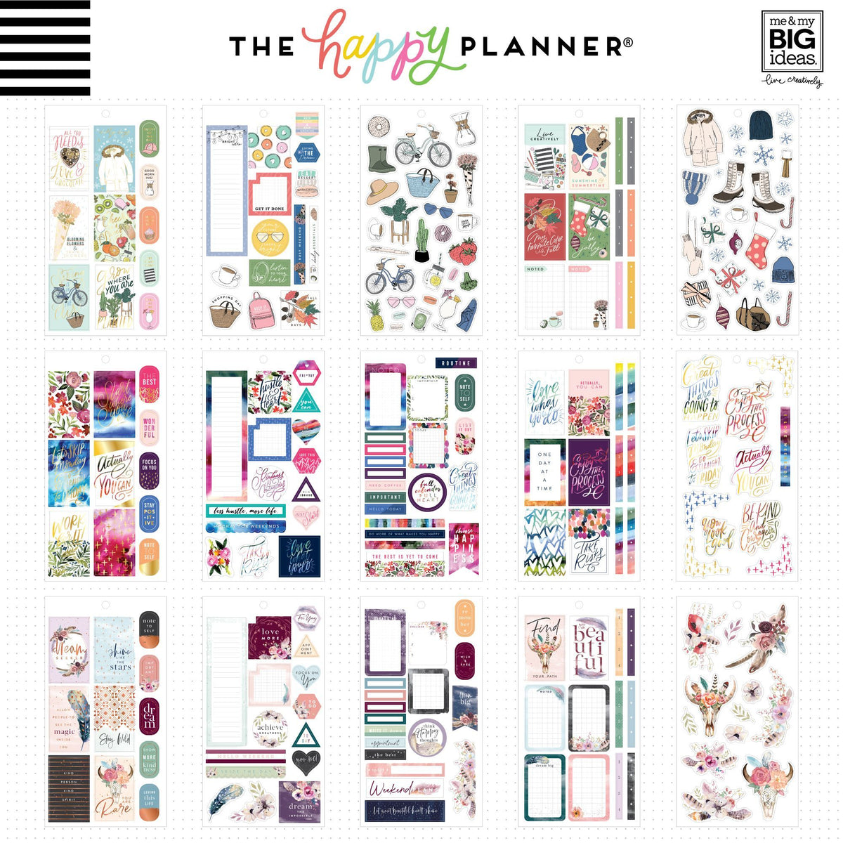 HAPPY PLANNER VALUE PACK STICKERS : CLASSIC : COLOR STORY 4