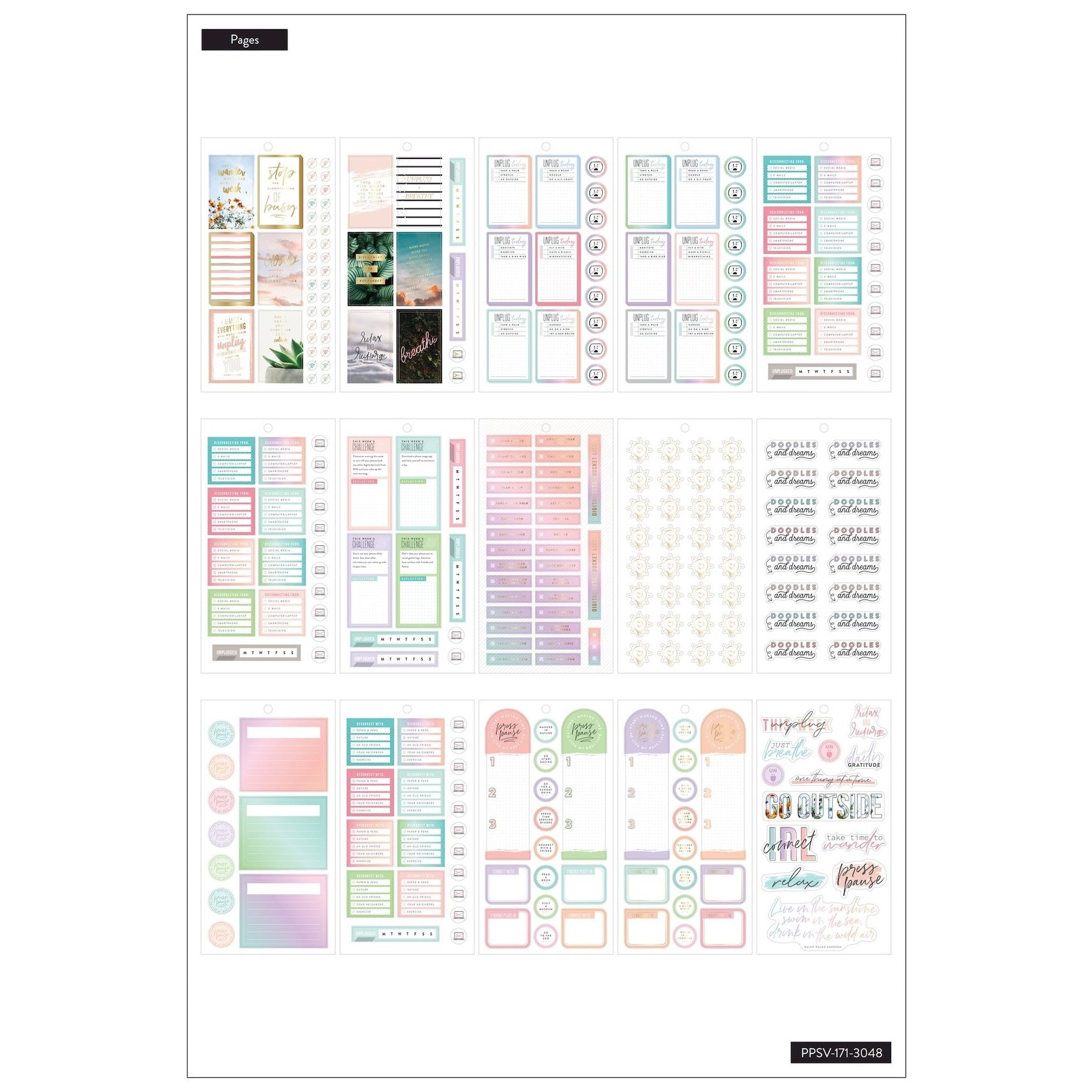 HAPPY PLANNER VALUE PACK STICKERS : CLASSIC : DIGITAL DETOX
