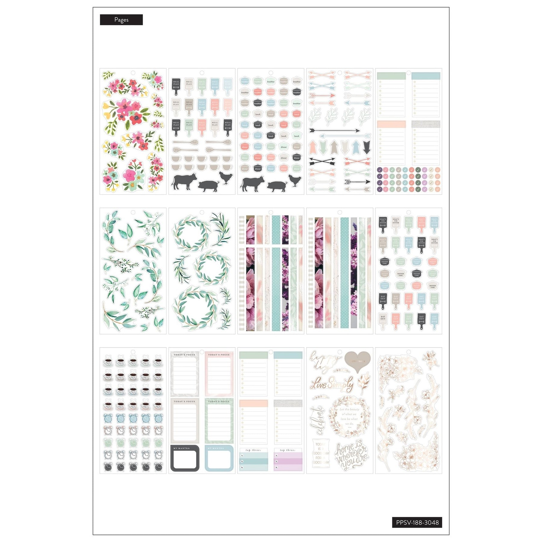 HAPPY PLANNER VALUE PACK STICKERS : BIG : FARMHOUSE