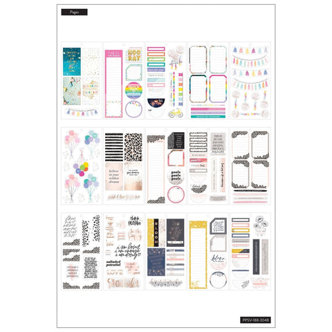 HAPPY PLANNER VALUE PACK STICKERS : BIG : COLORFUL BOXES