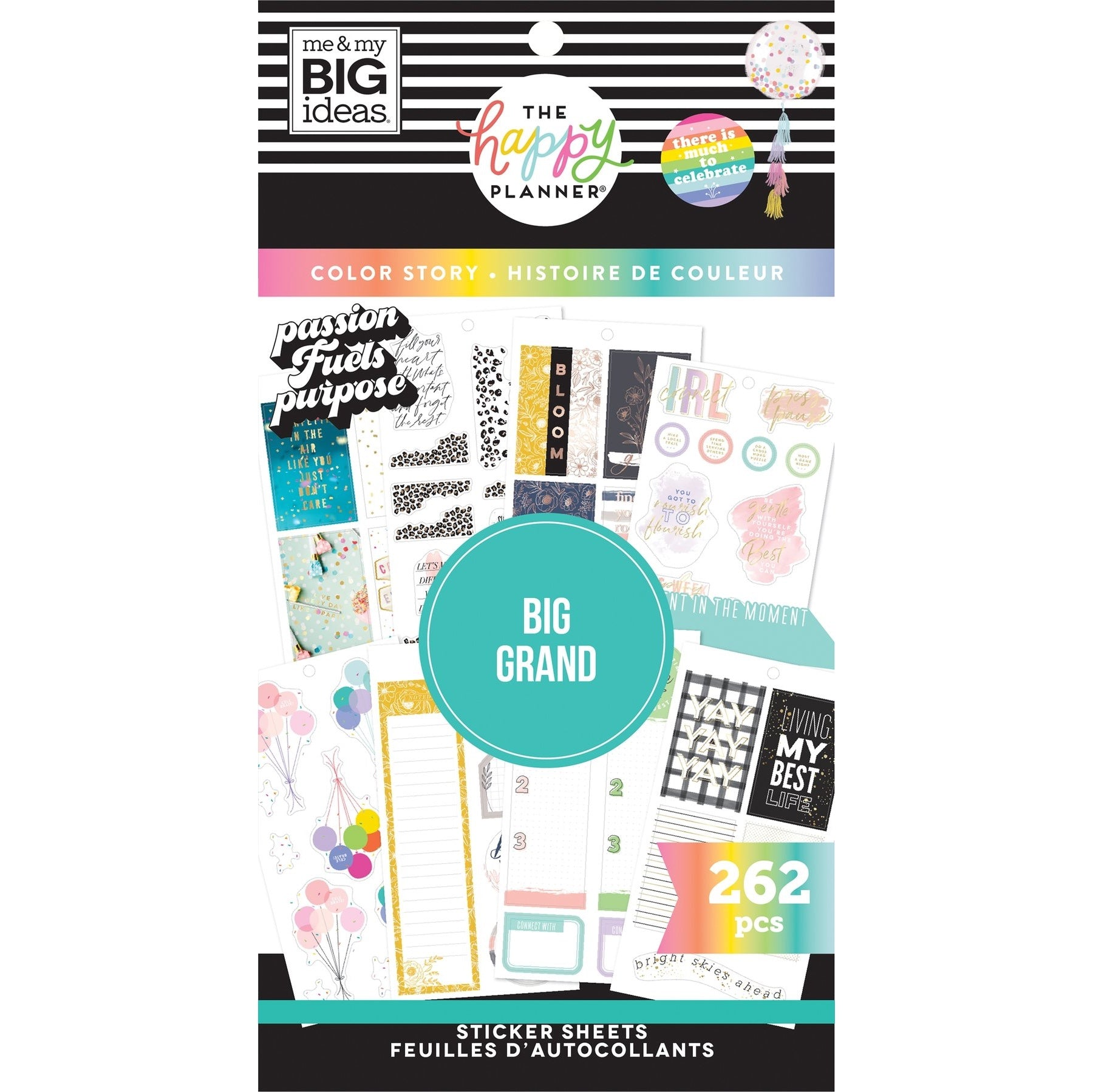 HAPPY PLANNER VALUE PACK STICKERS : BIG : COLOUR STORY