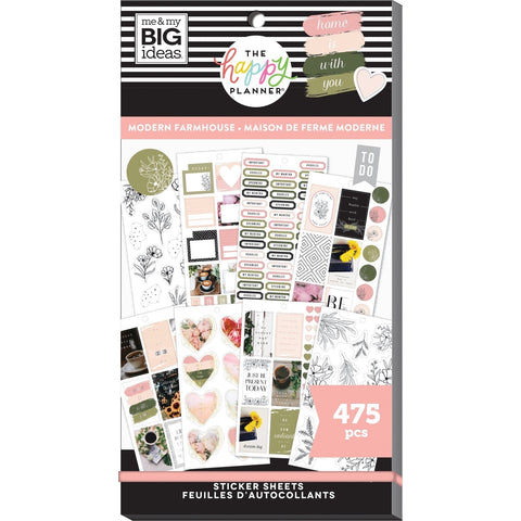 HAPPY PLANNER VALUE PACK STICKERS : CLASSIC : MODERN FARMHOUSE