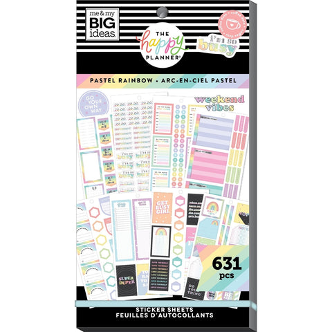 HAPPY PLANNER VALUE PACK STICKERS : CLASSIC : PASTEL RAINBOW