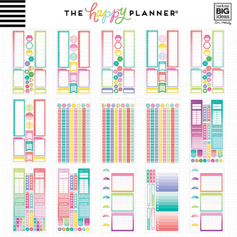 HAPPY PLANNER VALUE PACK STICKERS : CLASSIC : FILL IN PRODUCTIVITY