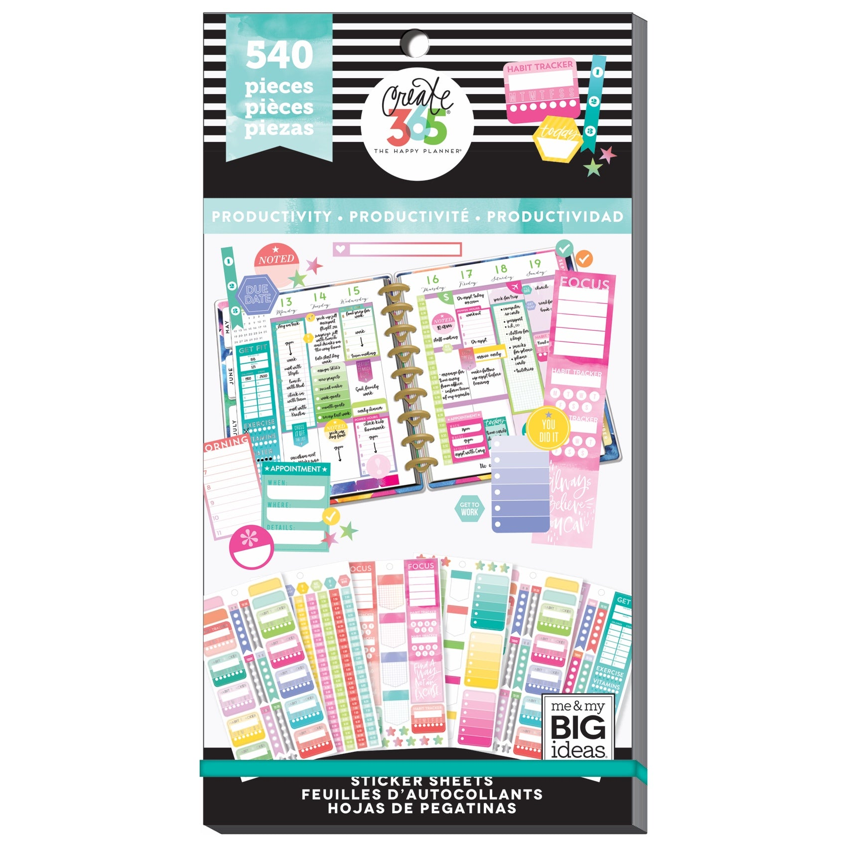 PPSV-53 Happy Planner Value Pack Stickers - Classic - Fill In Productivity