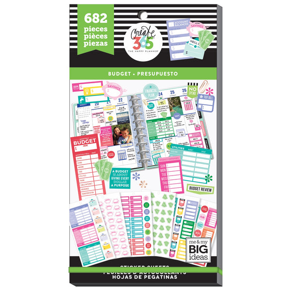 HAPPY PLANNER VALUE PACK STICKERS : CLASSIC : FILL IN BUDGET