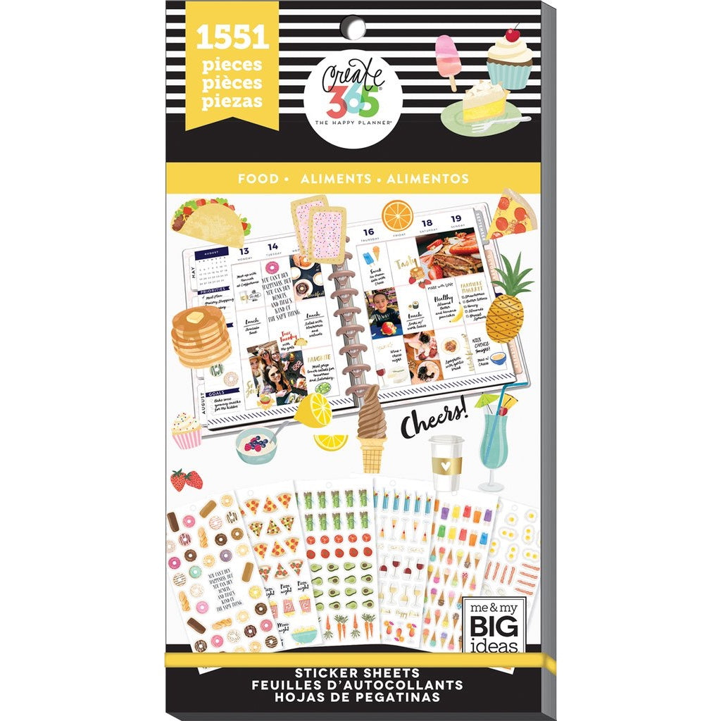 HAPPY PLANNER VALUE PACK STICKERS : FOOD