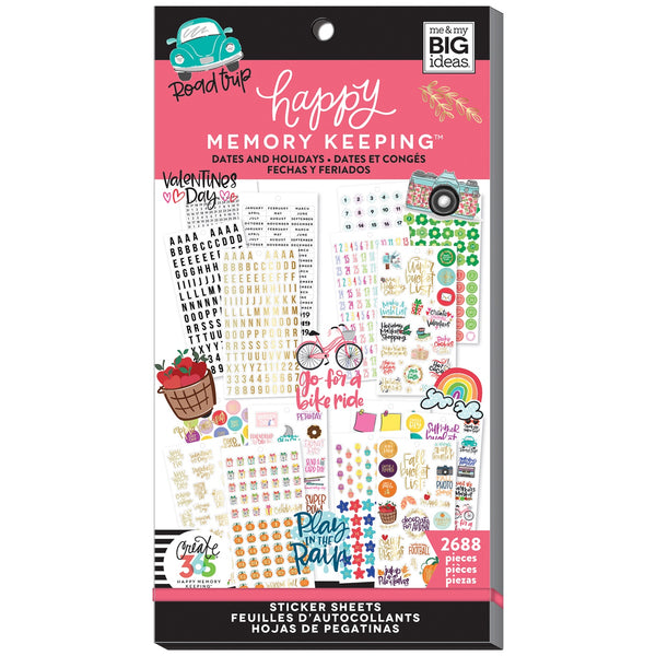 HAPPY MEMORY KEEPING VALUE PACK STICKERS : BIG : DATES & HOLIDAYS 2