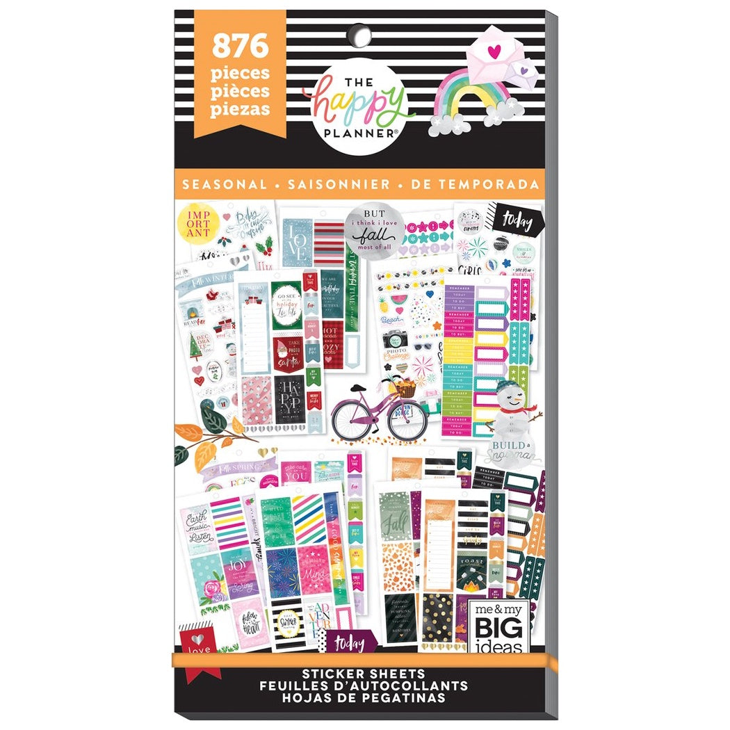 PPSV-69 ALL IN A SEASON HAPPY PLANNER VALUE PACK STICKERS - WASHIGANG AUSTRALIA