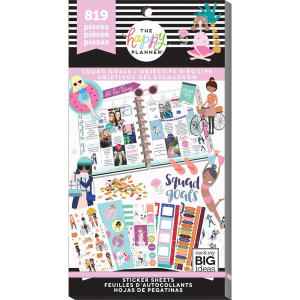 PRE-ORDER - HAPPY PLANNER VALUE PACK STICKERS : CLASSIC : SQUAD GOALS
