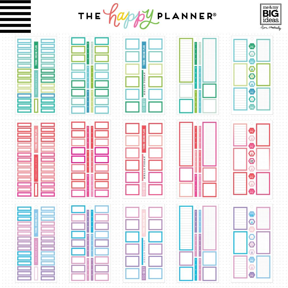 HAPPY PLANNER VALUE PACK STICKERS : CLASSIC : COLOURFUL BOXES