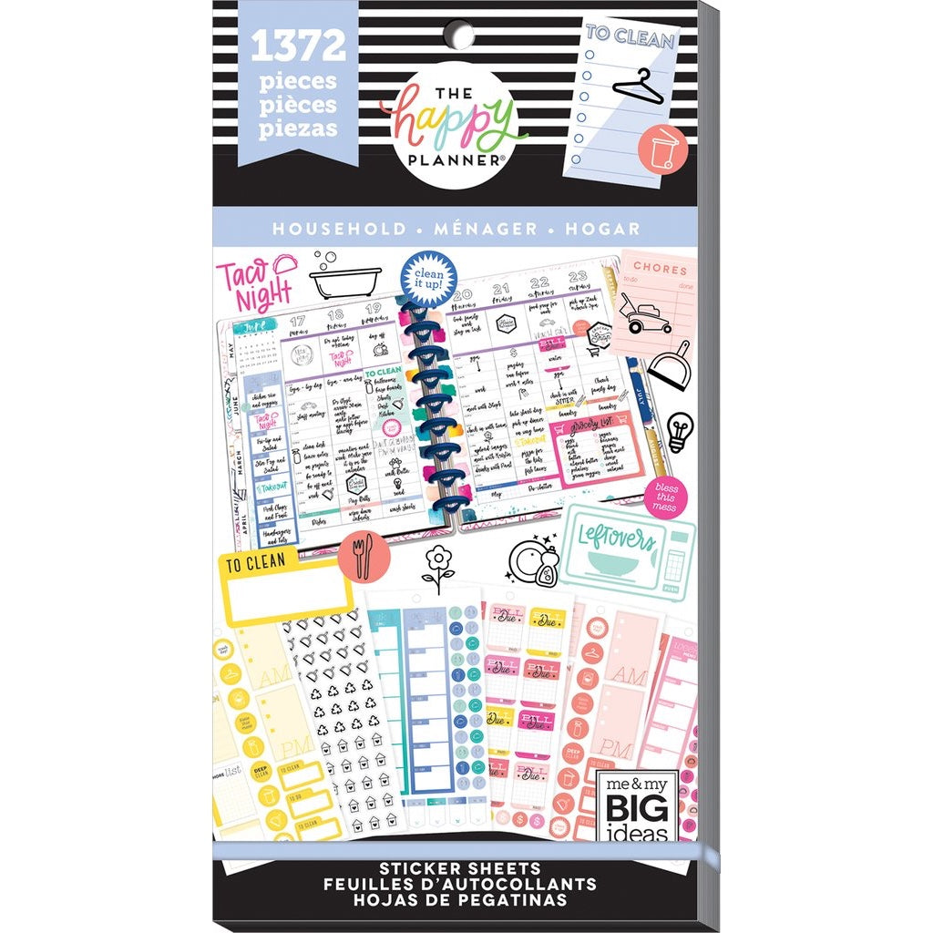 HAPPY PLANNER VALUE PACK STICKERS : CLASSIC : HOUSEHOLD