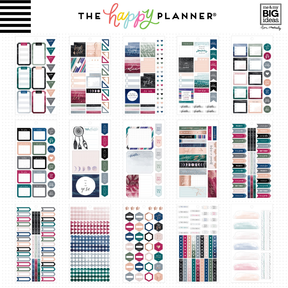 HAPPY PLANNER VALUE PACK STICKERS : CLASSIC : FREE SPIRIT (BOHO)