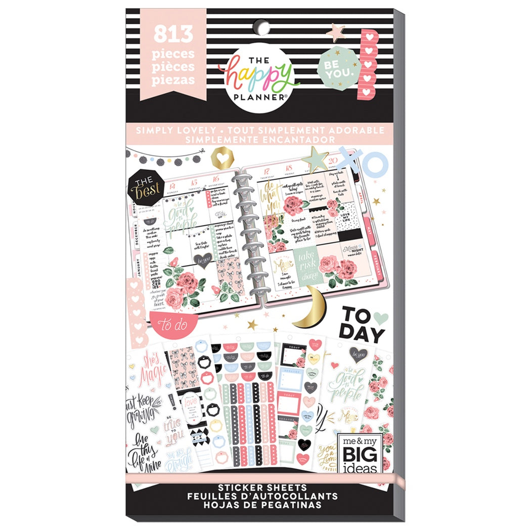 HAPPY PLANNER VALUE PACK STICKERS : CLASSIC : SIMPLY LOVELY