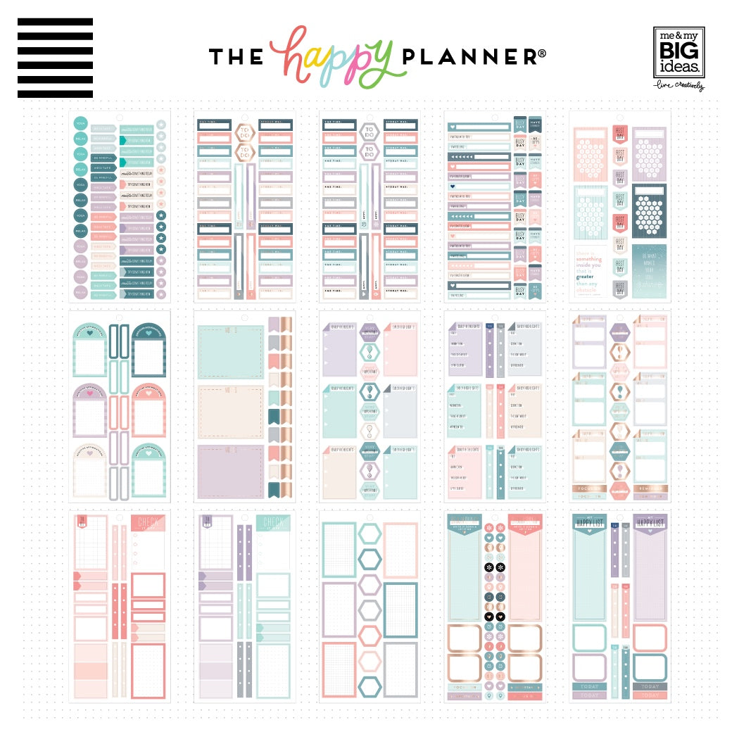 HAPPY PLANNER VALUE PACK STICKERS : CLASSIC : WELLNESS