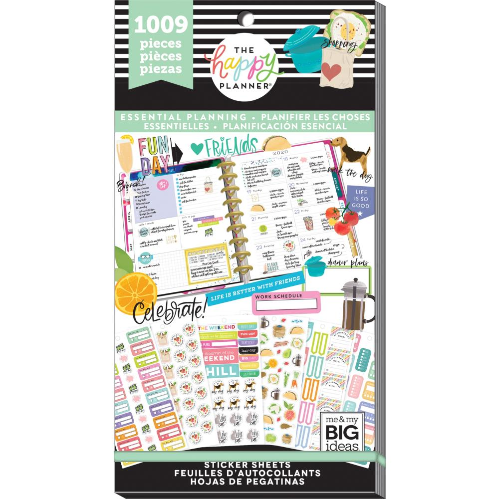 **PRE-ORDER** HAPPY PLANNER VALUE PACK STICKERS : CLASSIC : ESSENTIAL PLANNING