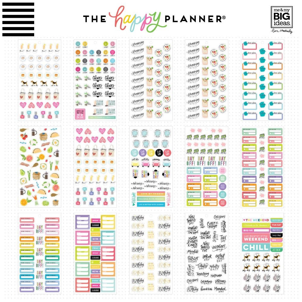 HAPPY PLANNER VALUE PACK STICKERS : CLASSIC : ESSENTIAL PLANNING