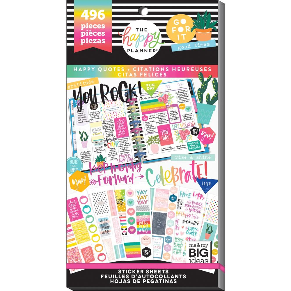 HAPPY PLANNER VALUE PACK STICKERS : CLASSIC : HAPPY QUOTES