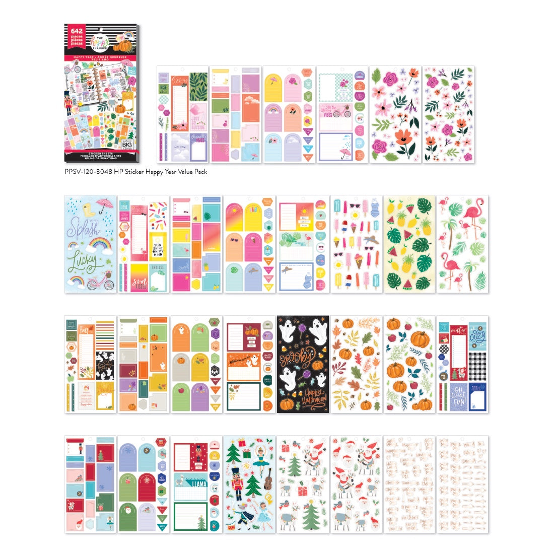**PRE-ORDER** HAPPY PLANNER VALUE PACK STICKERS : CLASSIC : HAPPY YEAR