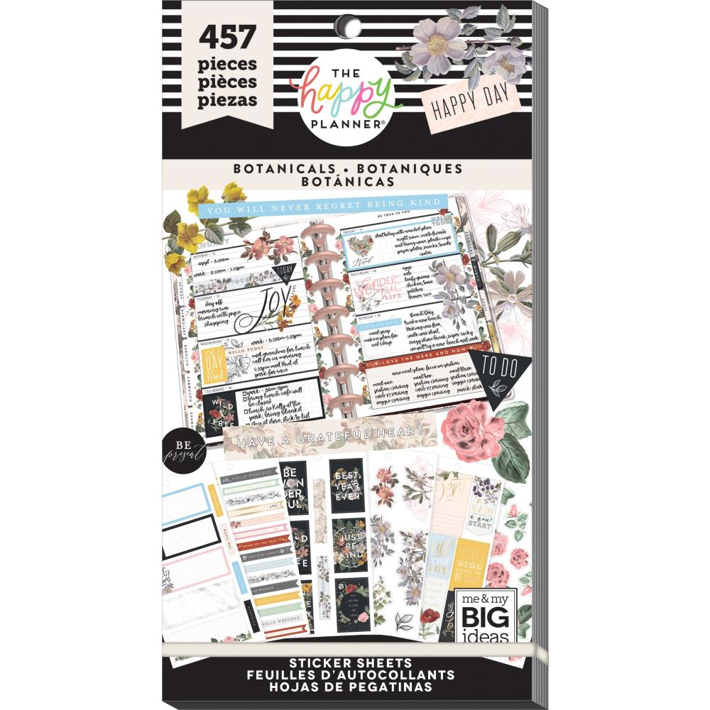 HAPPY PLANNER VALUE PACK STICKERS : CLASSIC : VINTAGE BOTANICAL