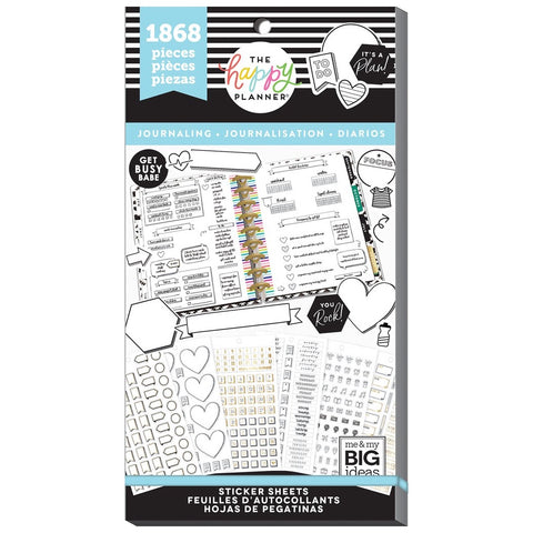 HAPPY PLANNER VALUE PACK STICKERS : CLASSIC : JOURNALING