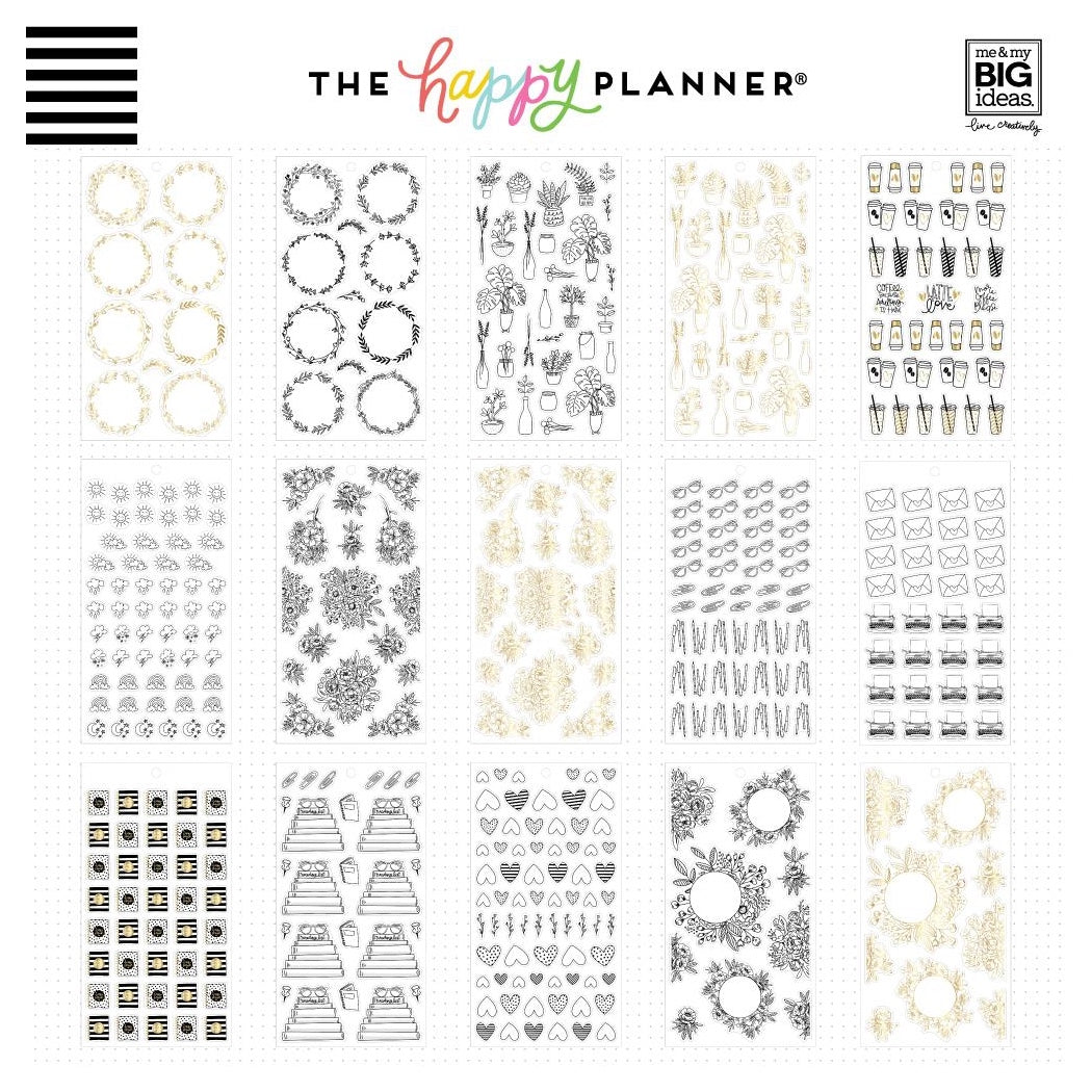 HAPPY PLANNER VALUE PACK STICKERS : CLASSIC : JOURNALING DOODLES