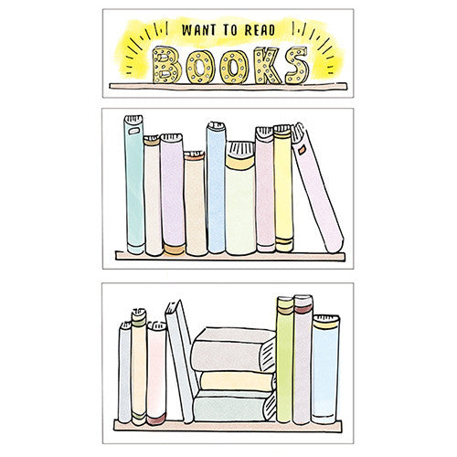 BOOK SHELF DECORATION STICKERS
