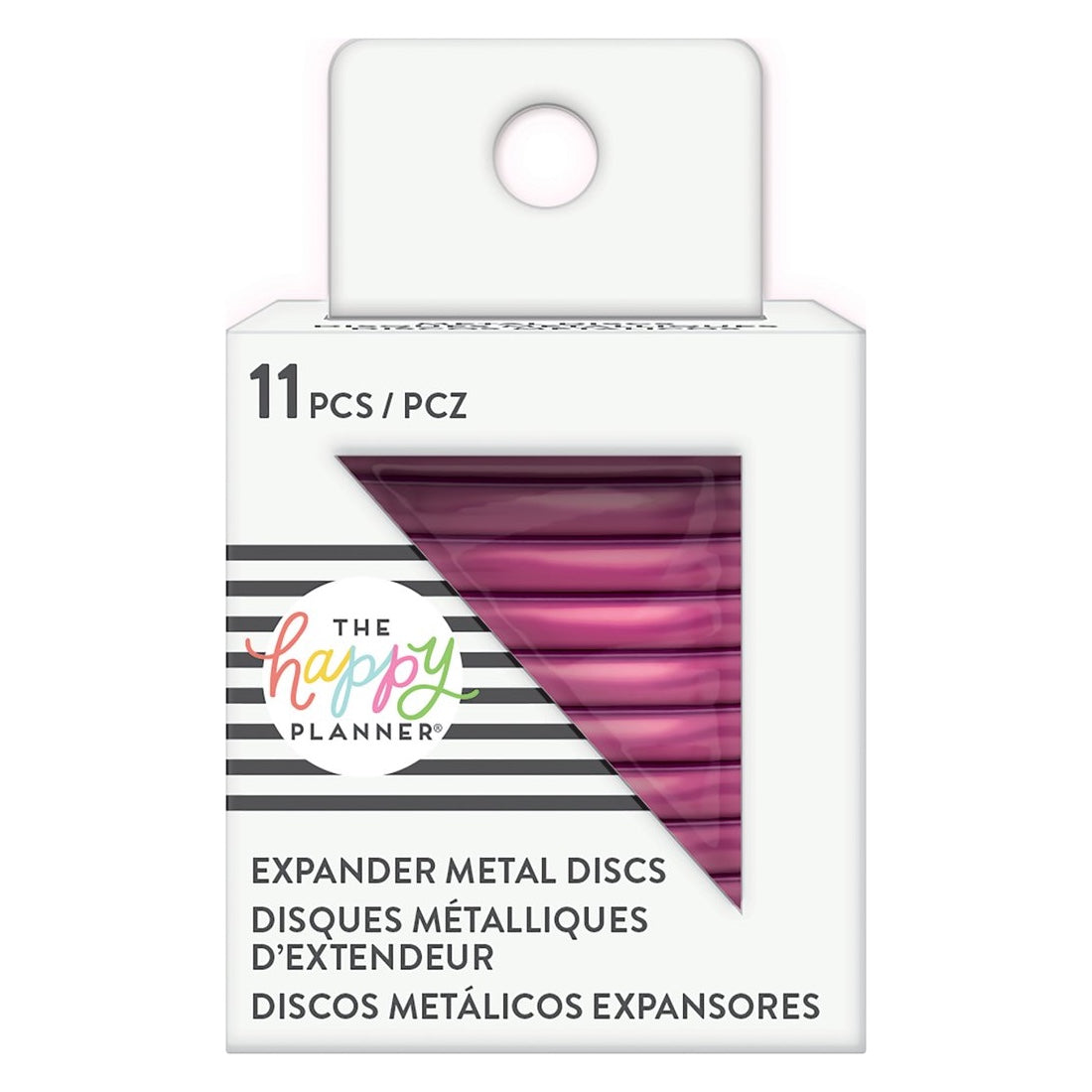 HAPPY PLANNER EXPANDER METAL DISCS : HOT PINK