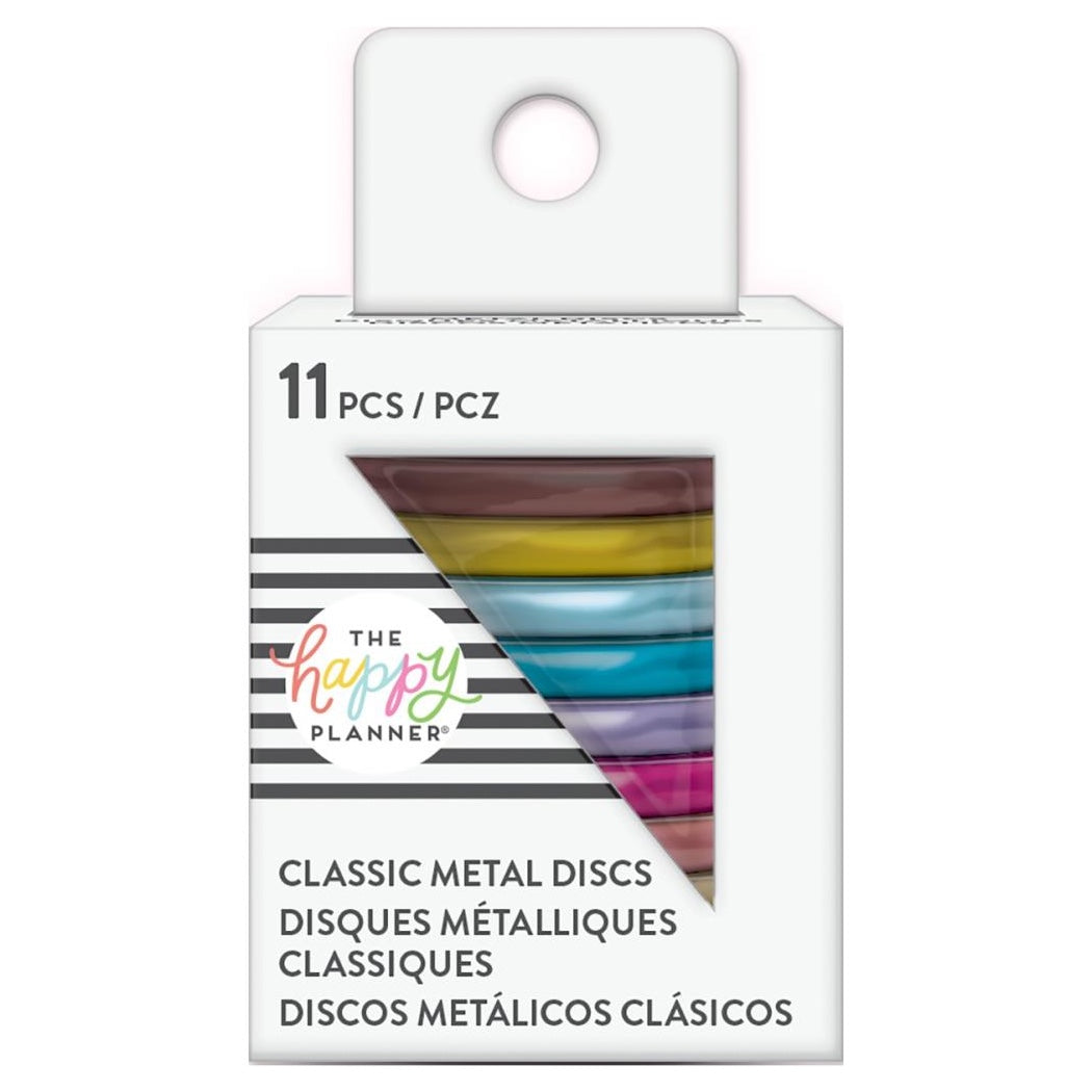 HAPPY PLANNER MEDIUM METAL DISCS : RAINBOW