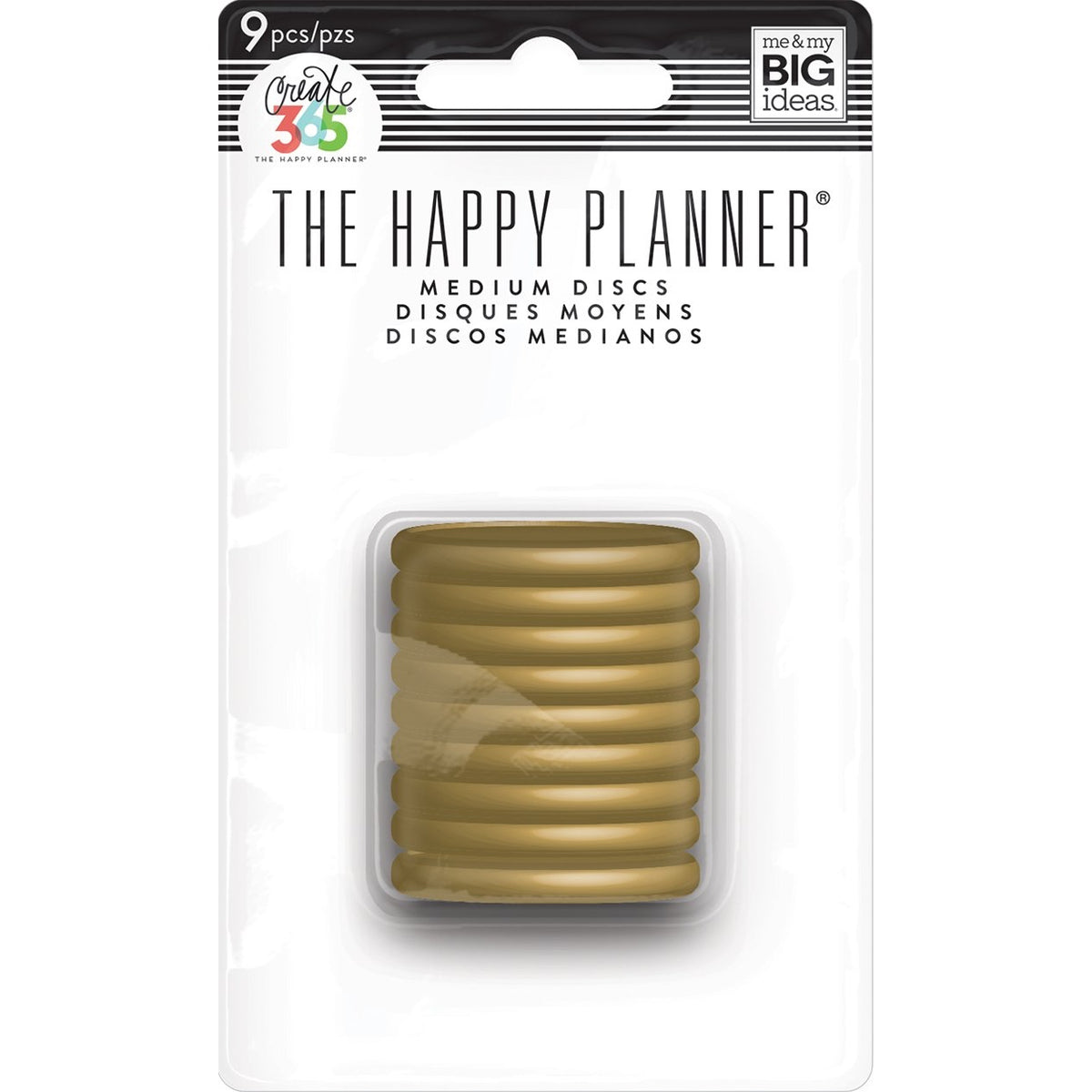HAPPY PLANNER MEDIUM PLASTIC DISCS : GOLD