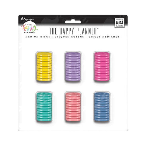 HAPPY PLANNER MEDIUM PLASTIC DISCS VALUE PACK