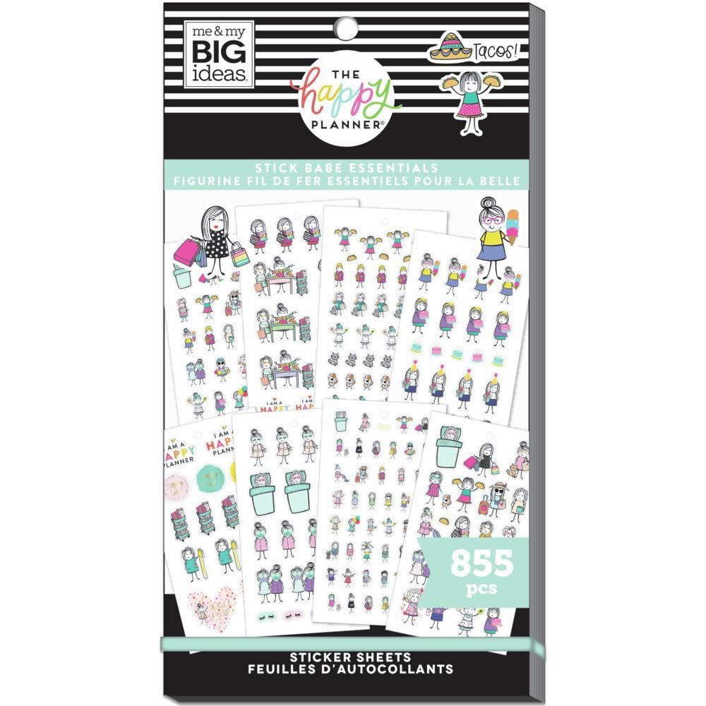 HAPPY PLANNER VALUE PACK STICKERS : CLASSIC : STICK GIRLS ESSENTIALS