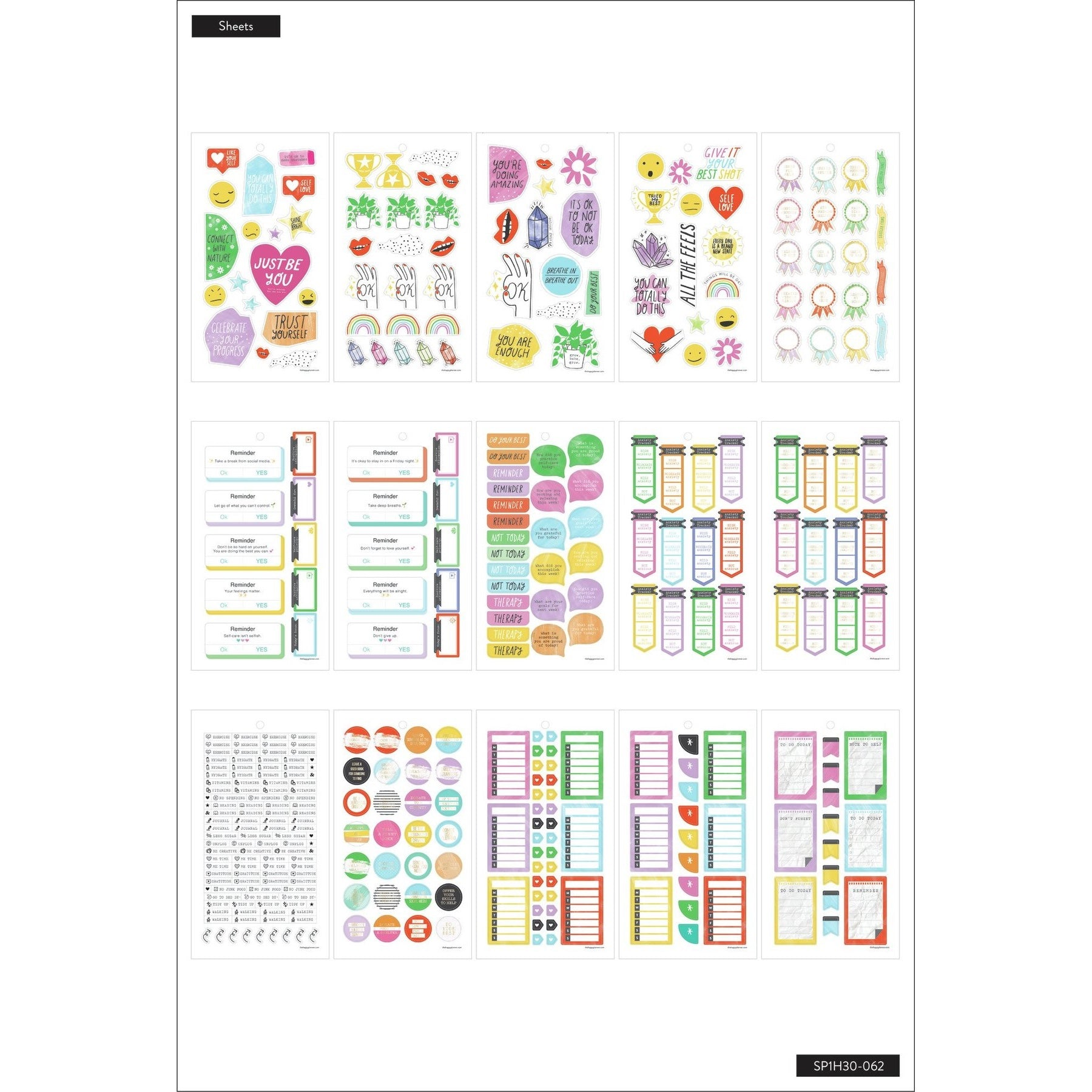 **SPECIAL IMPORT** HAPPY PLANNER VALUE PACK STICKERS : CLASSIC : ALL THE FEELS