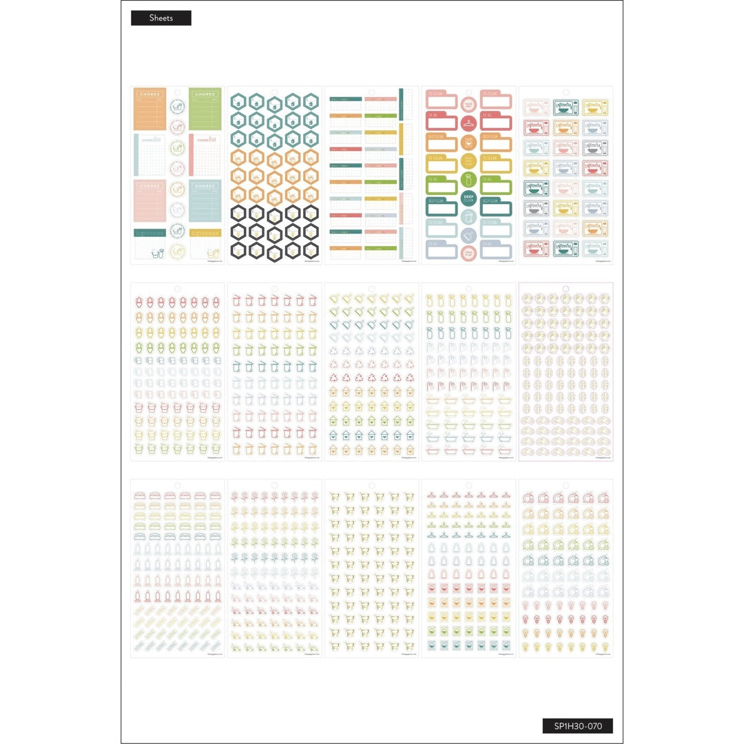 HAPPY PLANNER VALUE PACK STICKERS : CLASSIC : DAILY CHORES