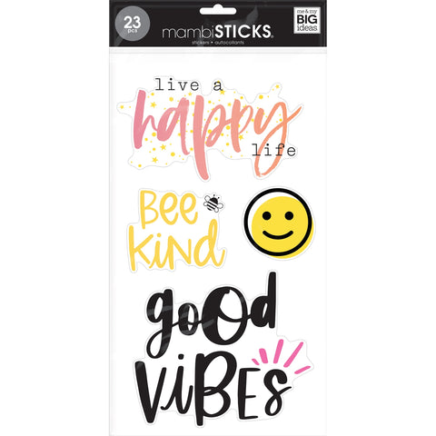 MAMBI STICKS STICKER PACK : KIND & HAPPY