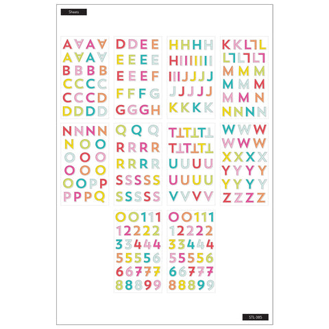 MAMBI STICKS STICKER PACK : RAINBOW ALPHABET