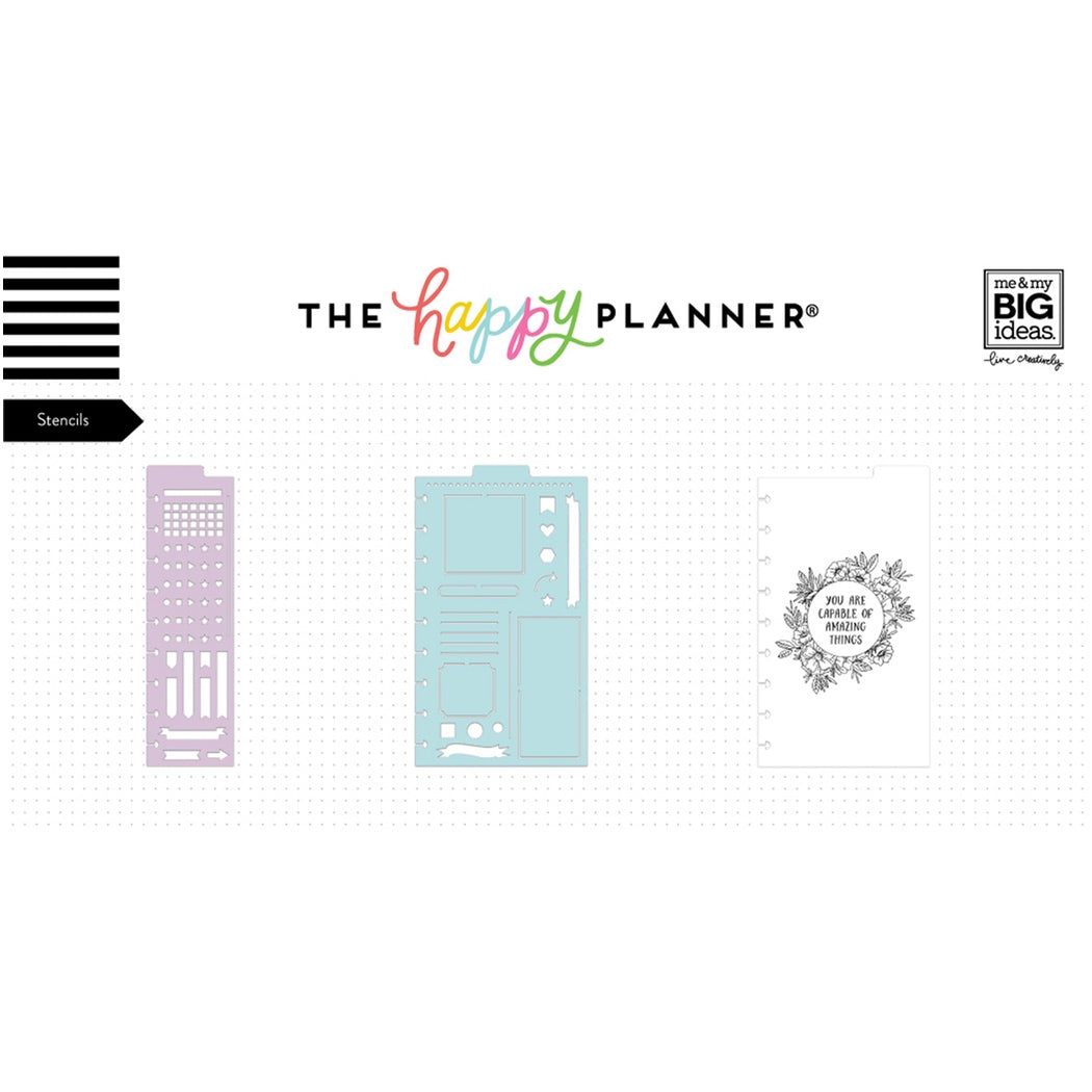 HAPPY PLANNER JOURNALING STENCILS : 3PK