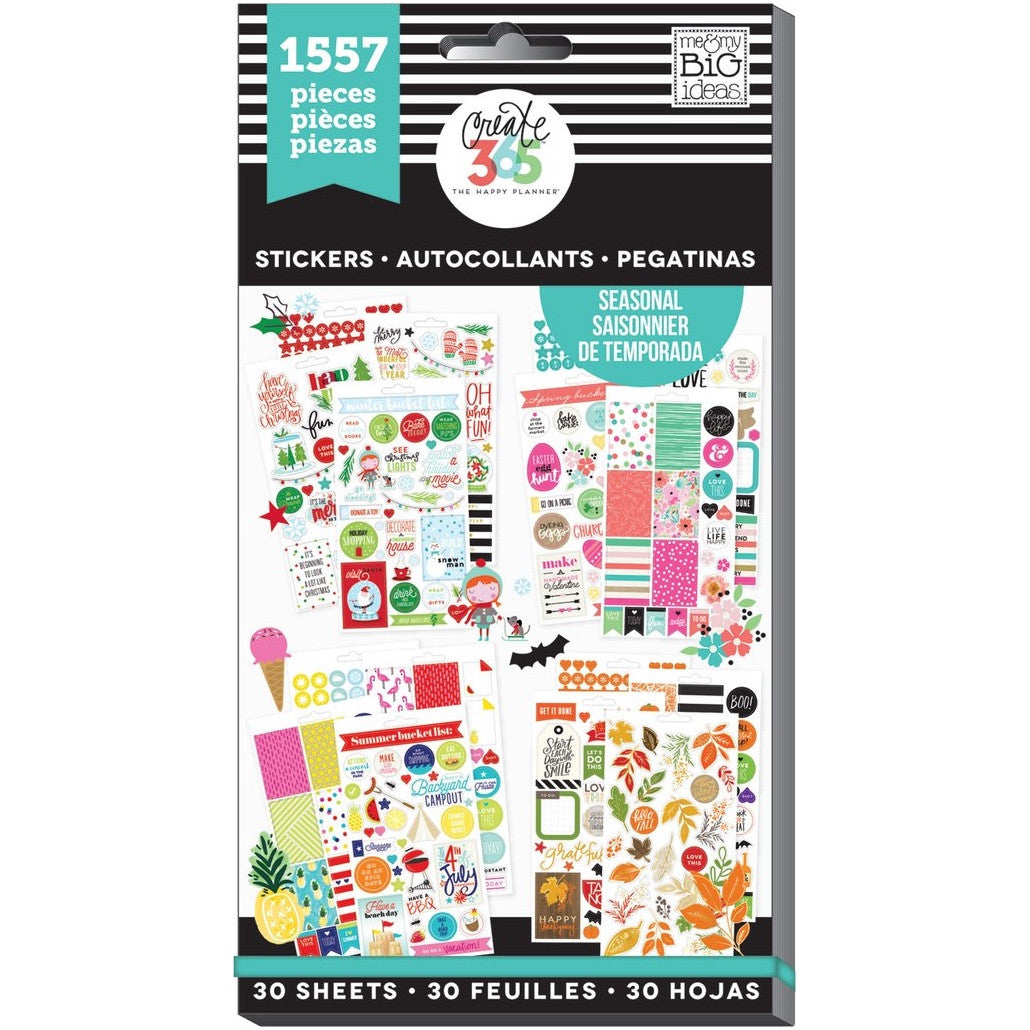 HAPPY PLANNER VALUE STICKER PACK - SEASONAL - WASHIGANG