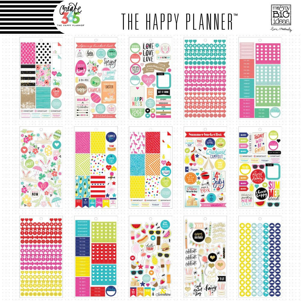 HAPPY PLANNER STICKERS - VALUE PACK - SEASONAL STICKERS - ME & MY BIG IDEAS - WASHIGANG AUSTRALIA